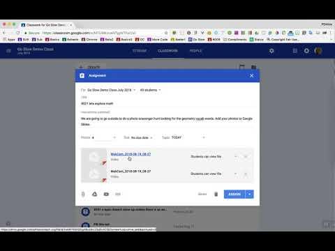 Adding Webcam Video To Google Classroom