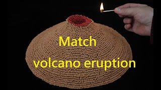 match chain amazing Volcano eruption