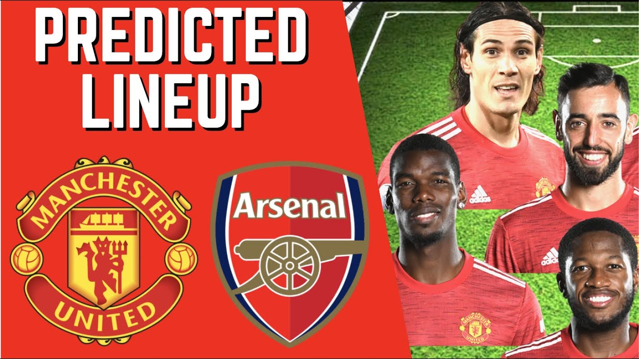 PREDICTED LINEUP - MANCHESTER UNITED VS ARSENAL - PREMIER LEAGUE 2020/21!