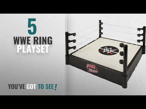 Top 10 WWE Ring Playset [2018]: WWE Boys Tough Talkers Ring Playset