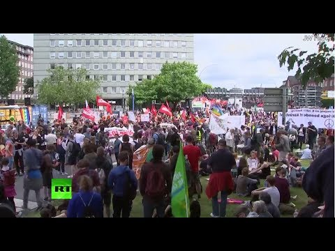 Protesters gather as up to 100,000 expected at anti-G20 in Hamburg