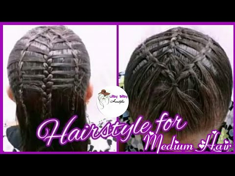 Peinado para cabello mediano…Hairstyle for medium length hair.. Litzy Bitzy Hairstyles👩‍