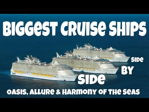 Biggest Cruise Ships Meetup | Royal Caribbean's Oasis, Allure and Harmony of the seas side by side