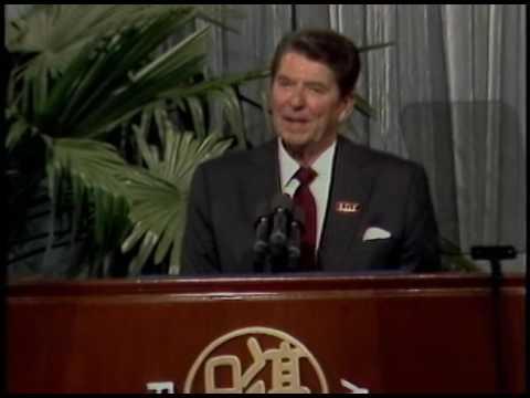 President Reagan visit to Fudan University and Rainbow Bridge Township on April 30 and May 1, 1984