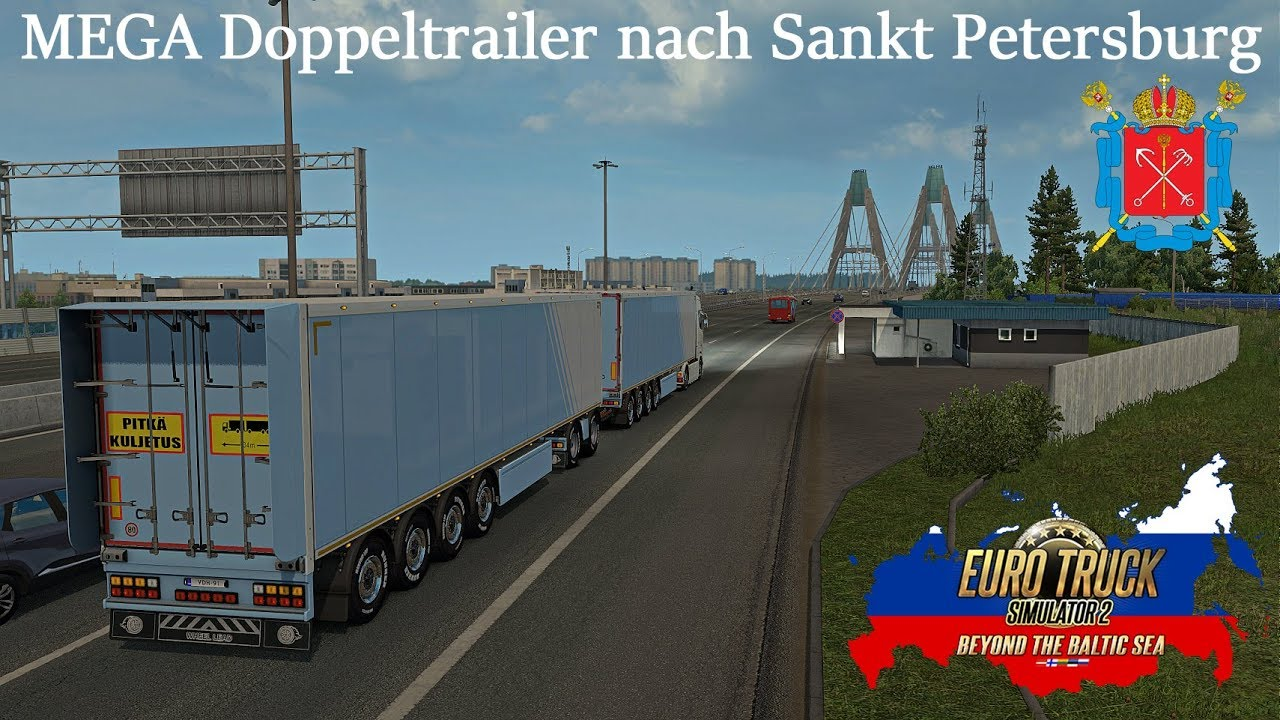 ets2 baltic sea dlc mega doppeltrailer nach sankt. Black Bedroom Furniture Sets. Home Design Ideas