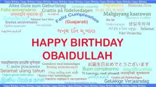 Obaidullah   Languages Idiomas - Happy Birthday
