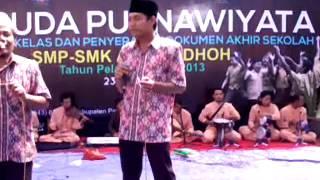 Gambus Marawis SMK Ar Roudhoh kolaborasi dengan UIN malng (mazika zen) 2013 06 23