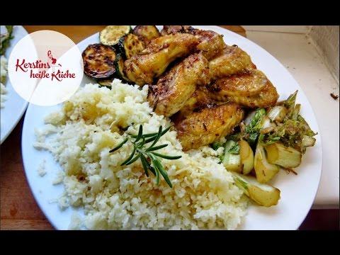 Kerstins heiße Küche - No Carb Reis aus Karfiol / Blumenkohl (Rezept)