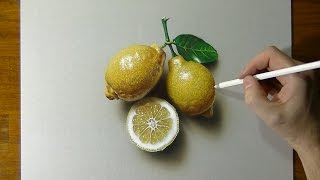 Drawing of some lemons - How to draw 3D Art