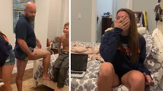 Dad Wears Short Shorts to Prove a Point to His Teen Daughter - 1050180