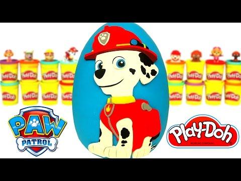 Huevo Sorpresa Gigante de Marshall Paw Patrol en Español Plastilina Play Doh
