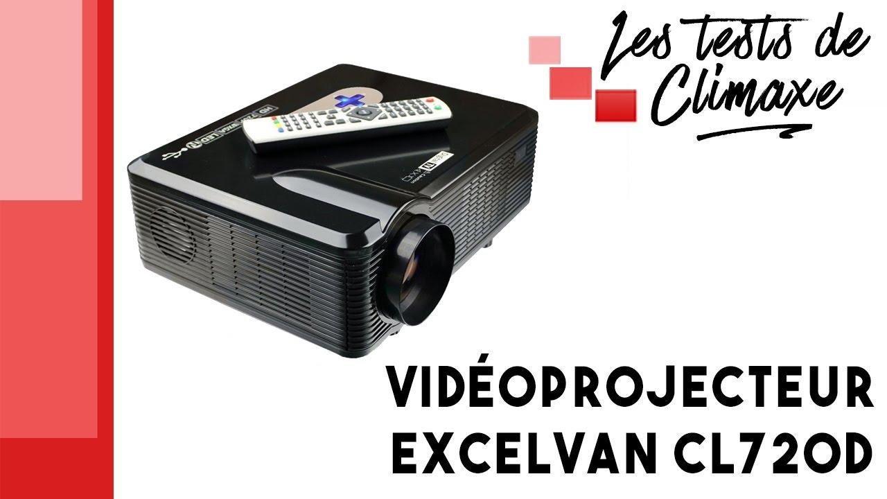 Videoprojecteur Avec Tuner Tv test d'un vidéoprojecteur excelvan cl720d
