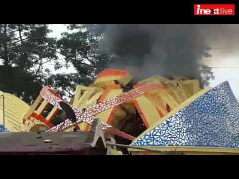 Ranchi's RR sporting club Durga puja pandal costing 38 lacs, destroyed in massive fire