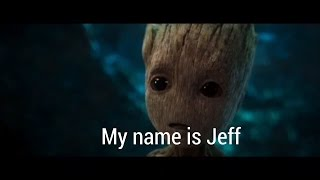 Weird edits - Rocket and baby groot my name is Jeff voice over