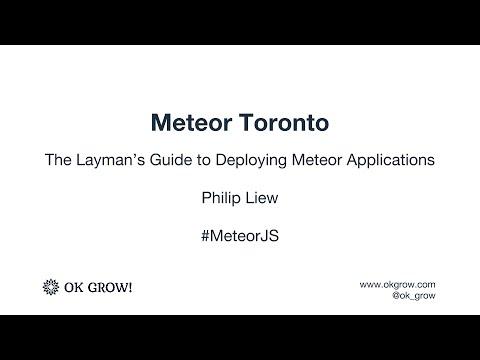 Meteor Toronto April 2016 -  Deploying Meteor Applications
