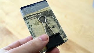 BEST Way Use a Binder Clip as a Wallet for Cards AND Cash