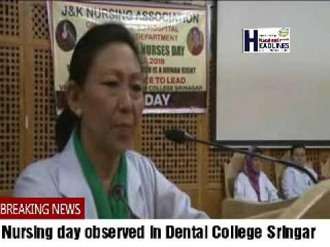 Nursing day observed in Dental College Srinagar