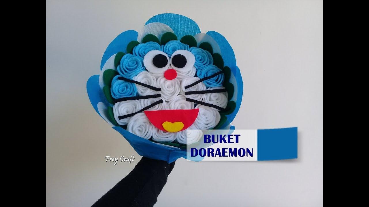 Doraemon Bouquet Tutorial Membuat Buket Bunga Doraemon Youtube