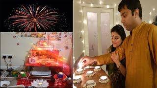 DIWALI IN UK l Diwali Vlog 2017 l Neha's Creativity diwali special with  diwali wishes