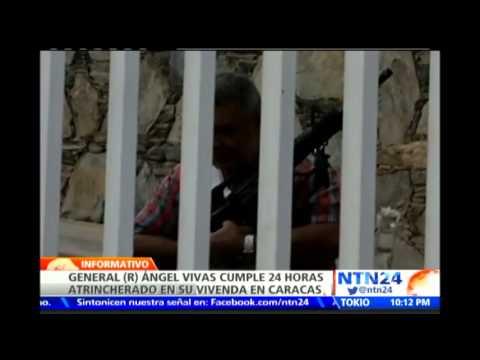 General (r) Ángel Vivas cumple 24 horas atrincherado en su vivienda en Caracas