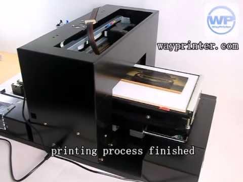 dtg inkjet flatbed printer a4 print on wood surface youtube. Black Bedroom Furniture Sets. Home Design Ideas