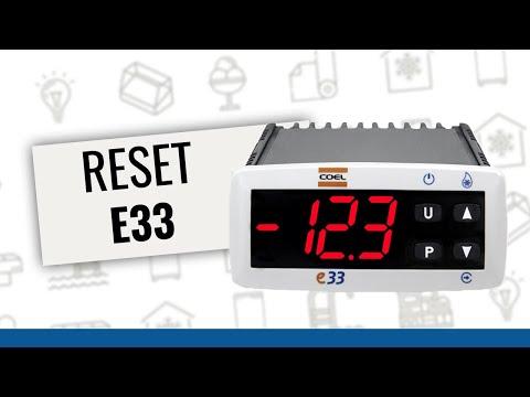 Controlador Coel E33 - reset de fábrica