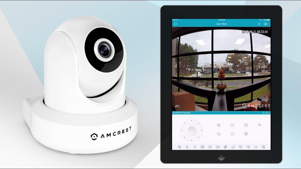 Amcrest IP Cameras - WiFi Mobile App Setup on iPad