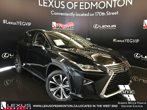 2017 Black Lexus Rx 350 Awd Luxury Walkaround Review West Edmonton Alberta