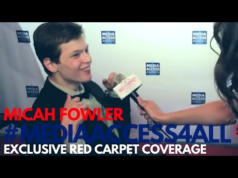 Micah Fowler Speechless at 2016 Media Access Awards Honors Disability Awareness MediaAccess4All