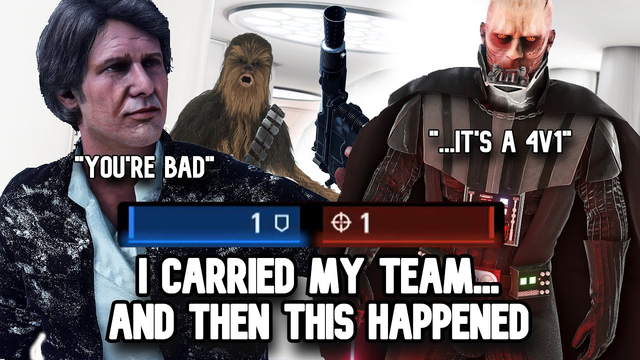I carried against a full team... and then this happened... (Battlefront 2)