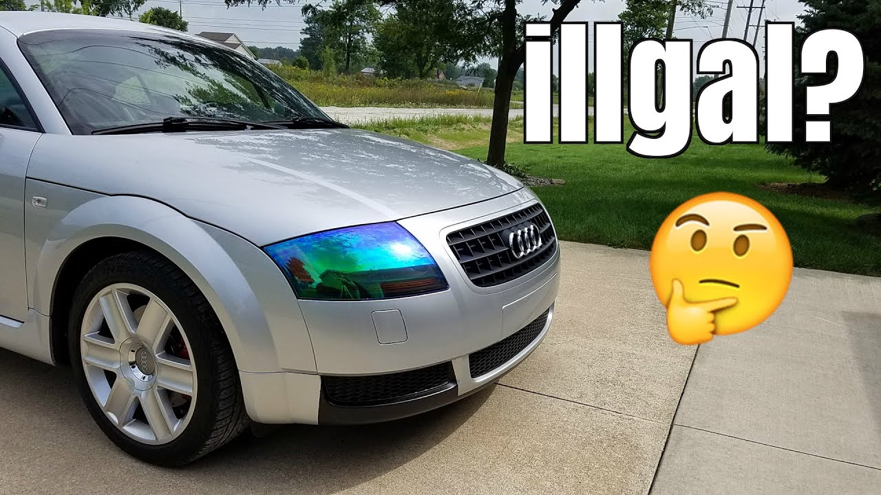 Is This Illegal Neochrome Headlight Tint Install Youtube