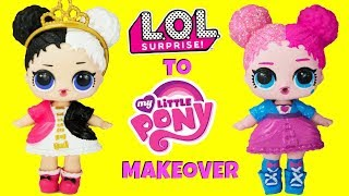 DIY Custom Heartbreaker To Pinkie Pie LOL Surprise Doll My Little Pony MAKEOVER