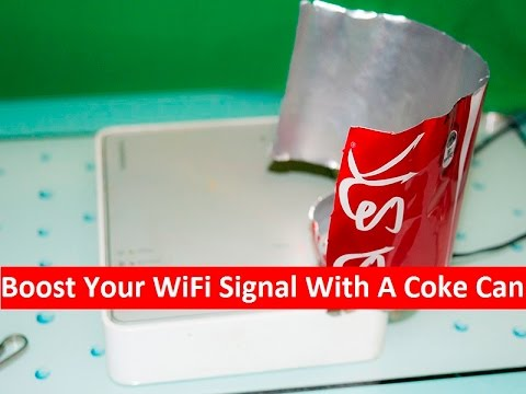Boost your wifi signal with a coke can life hack youtube boost your wifi signal with a coke can life hack ccuart Image collections