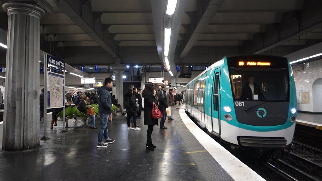 Métro De Paris Gare De L Est Youtube