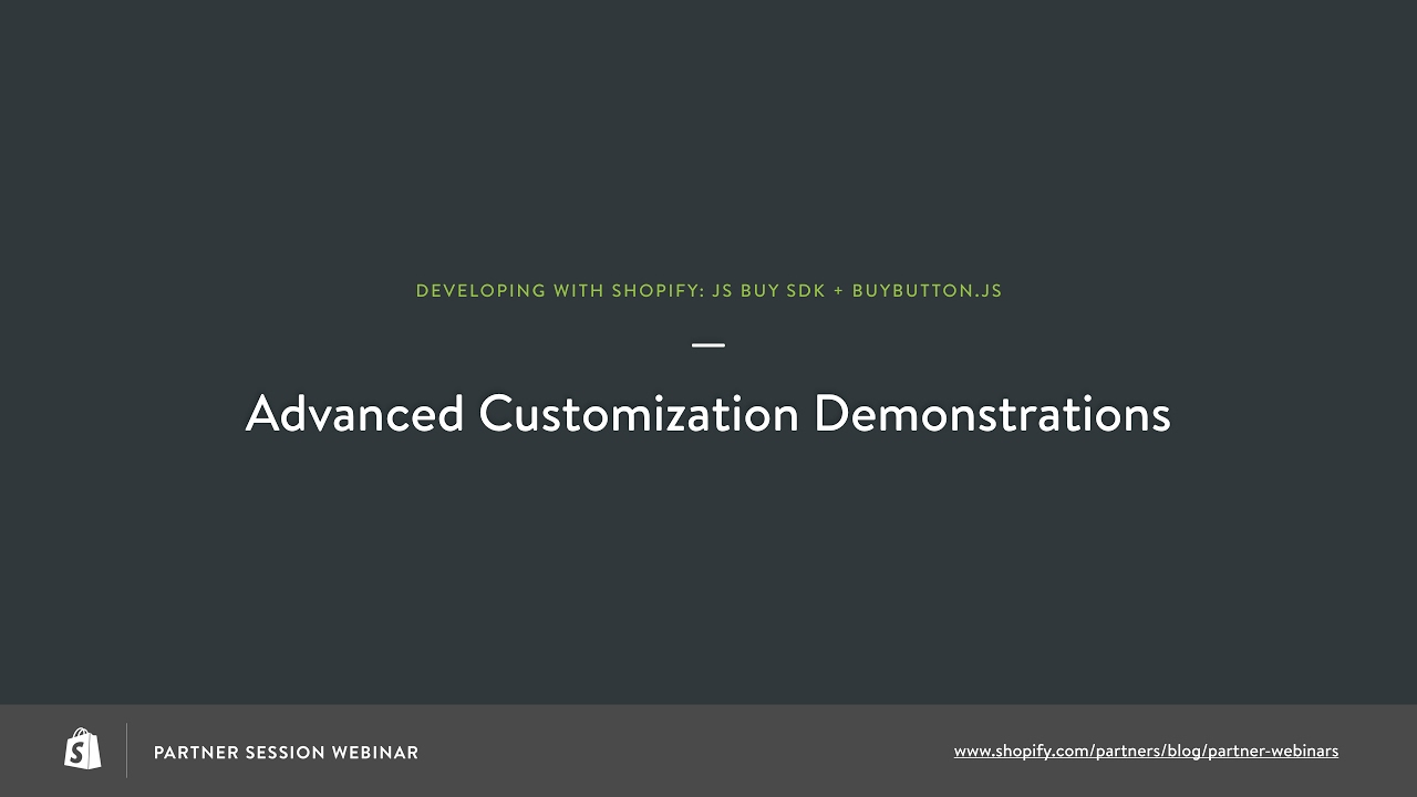 Advanced BuyButton js Customization Demo