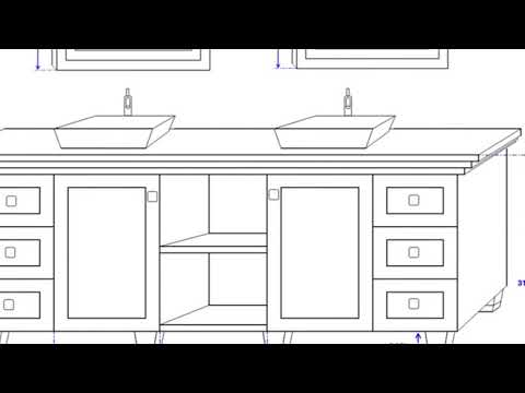 Double Sink Bathroom Vanity Dimensions Ideas