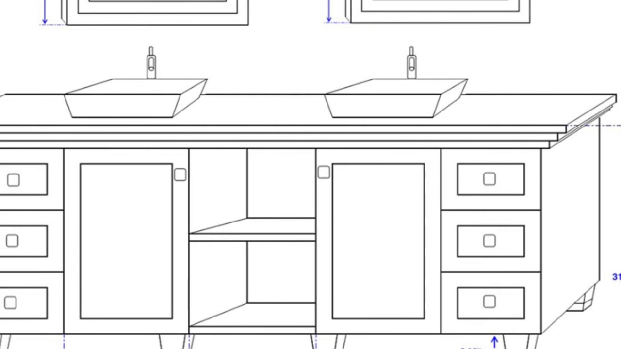 Double Sink Bathroom Vanity Dimensions Ideas Youtube