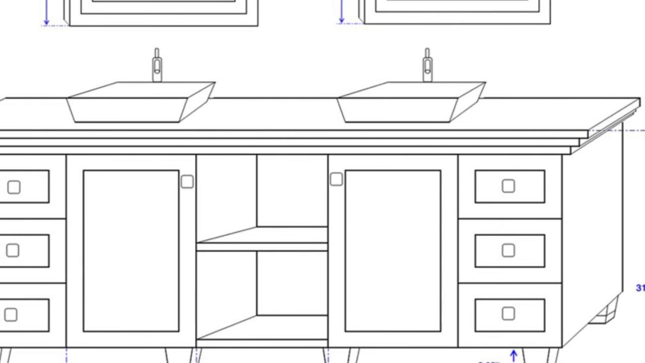 double sink bathroom vanity dimensions ideas