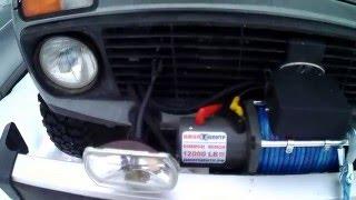 Обзор. Лебедка автомобильная Electric Winch 12v, 12000LBS, установка на ВАЗ 2131 НИВА