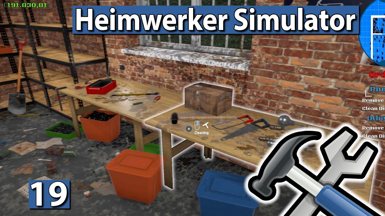 HEIMWERKER SIMULATOR 🛠 NEUE LUXUS Garage aufräumen ▻ #19 House ...