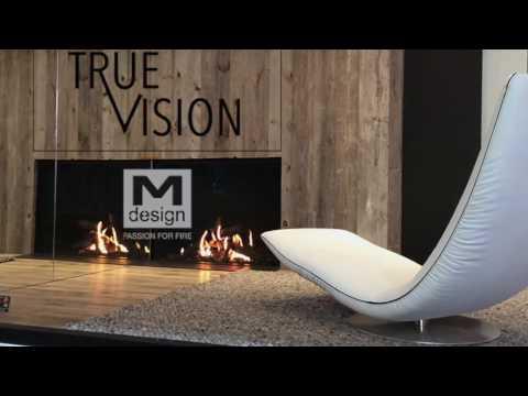 TrueVision : Gamme de cheminées Gaz M-design