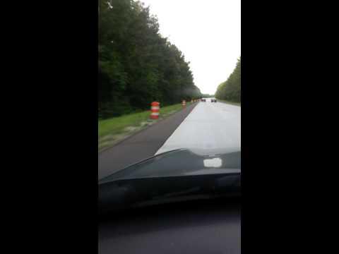 Alabama Interstate 59 Orange Barrel Abuse Fort Payne AL
