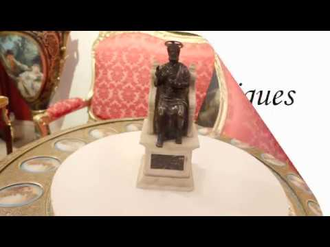 Antique Italian Bronze and Marble Sculpture of St Peter