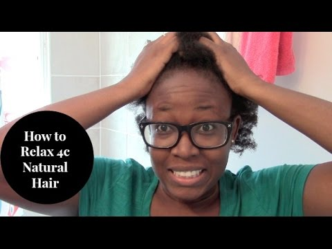 Natural to Relaxed Hair | How I relaxed my 4c natural hair using Straight From Eden