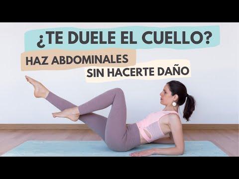 Cómo hacer abdominales sin dolor en el cuello