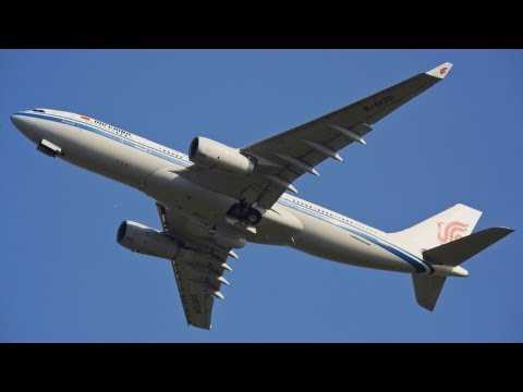 China Government VIP Flight - Airbus A330-243 Takeoff Copenhagen Airport