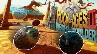 The Fastest Ball Ever! - Ball Racing - Rock of Ages 2  Bigger & Boulder Multiplayer Gameplay