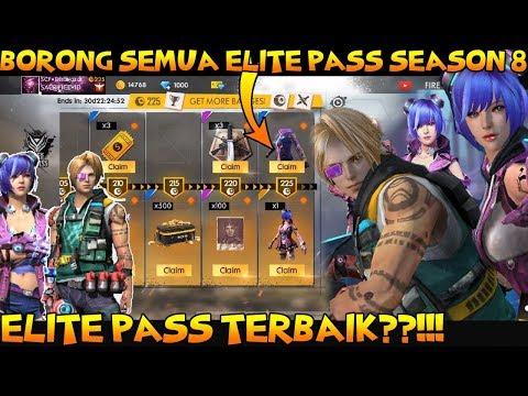 BORONG SEMUA ELITE PASS SEASON 8!!! ELITE PASS TERBAIK??!!! - FREE FIRE INDONESIA