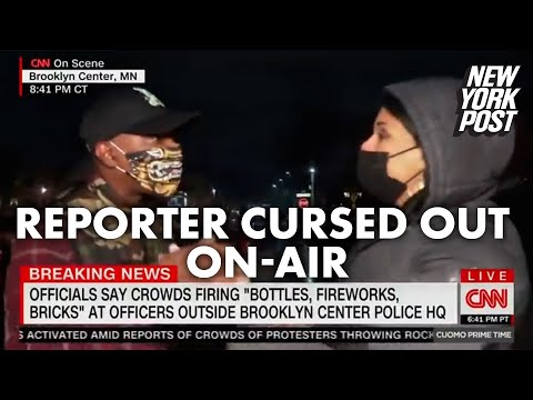Man curses out CNN reporter while she's live on air | New York Post