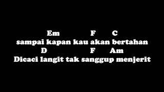chord and lyric Berandal Malam Dibangku Terminal
